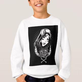 Mother Mary Chicano Art Sweatshirt