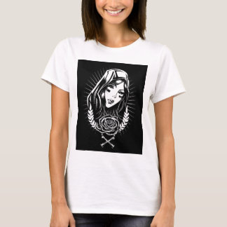 Mother Mary Chicano Art T-Shirt