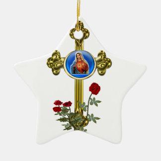 Mother Mary Cross Christmas Tree Ornament