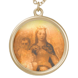 Mother Mary Gold Plated Necklace