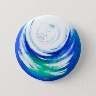 Mother Nature 2 Inch Round Button