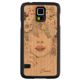 Mother Nature Abstract Wooden Samsung S5 Case Cherry Galaxy S5 Slim Case