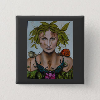 Mother Nature aka Lavina 2 Inch Square Button