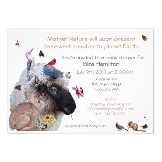 Mother Nature Baby Shower invitation: Card