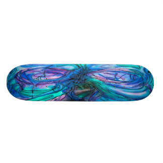 Mother Nature Fairy Tree watercolor painting Skate Board
