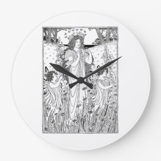 Mother Nature Summer Large Clock