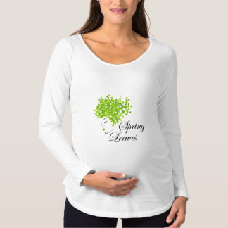 Mother nature with spring leaves as hair maternity T-Shirt