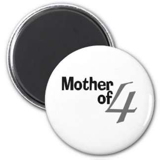 Mother Of 4 2 Inch Round Magnet