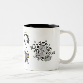 Mother Of Boys Two-Tone Coffee Mug
