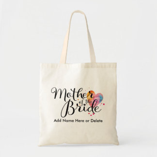 Mother of Bride Budget Tote Bag Watercolor Gift