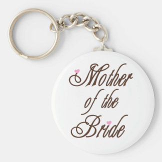 Mother of Bride Classy Browns Basic Round Button Keychain