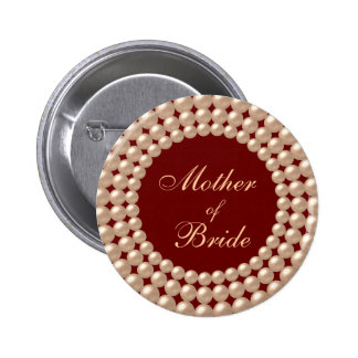 Mother of Bride Pearl Jeweled Button