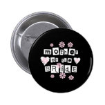Mother of Bride White on Black 2 Inch Round Button