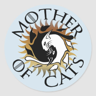 Mother Of Cats Round Sticker