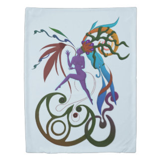Mother of Creatures Duvet Cover