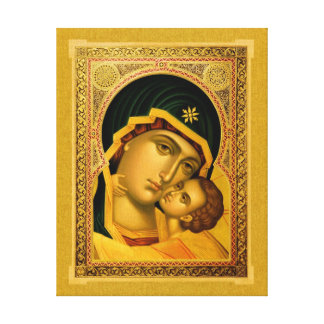 Mother of God Glykophilousa –Icon on Canvas Print