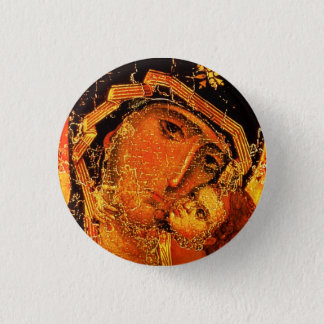 Mother of Love - St, Mary and Jesus - Button