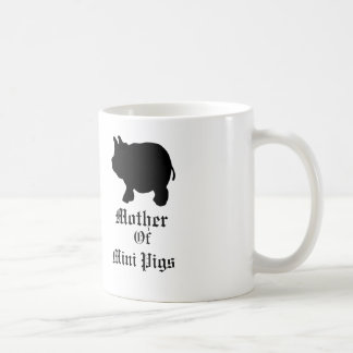 Mother Of Mini Pigs/With Black Mini Pig Coffee Mug