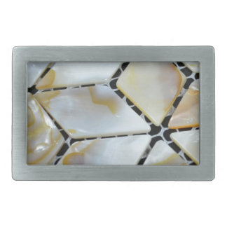 Mother of Pearl 2 Rectangular Belt Buckle