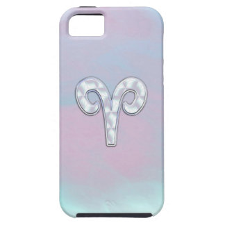 Mother of Pearl Aries Zodiac Symbol Decor iPhone 5 Covers