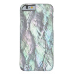 MOTHER OF PEARL Blue Print Barely There iPhone 6