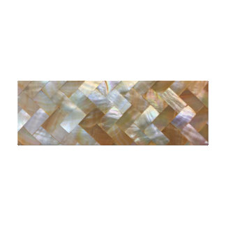 Mother of Pearl Capiz Weave Canvas Print