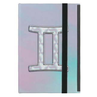 Mother of Pearl Decor Gemini Zodiac Symbol iPad Mini Cases
