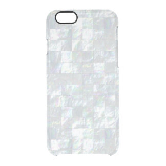 Mother Of Pearl Mosaic Clear iPhone 6/6S Case