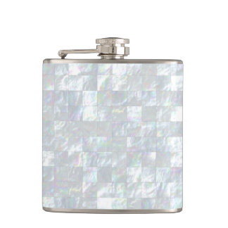 Mother Of Pearl Mosaic Flask