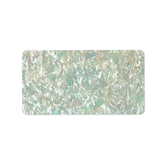 Mother of Pearl Opal Crackle Mirror Iridescent Bro Label