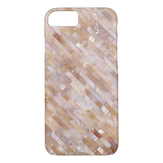 Mother Of Pearl Pink Tiled Diagonal Look iPhone 7 Case