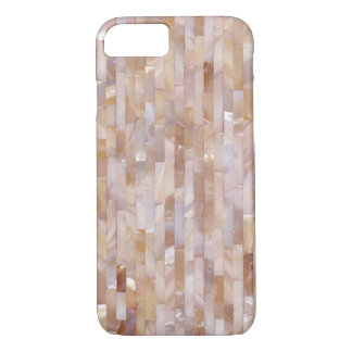 Mother Of Pearl Pink Tiled Horizontal Look iPhone 7 Case
