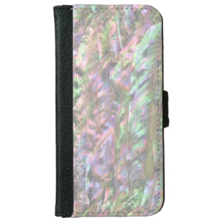 MOTHER OF PEARL PRINT Pink Green iPhone 6 Wallet Case