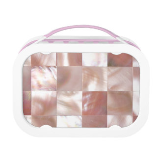 MOTHER OF PEARL PRINT Pink Mosaic Lunchboxes