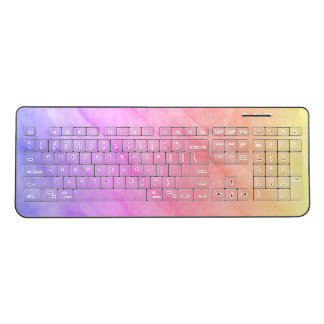 Mother of Pearl Shell Watercolor Stone Wireless Keyboard
