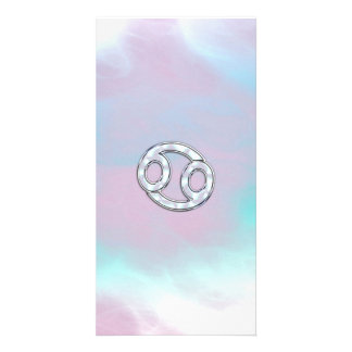 Mother of Pearl Style Cancer  Zodiac Sign Photo Card