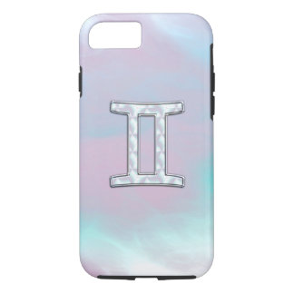 Mother of Pearl Style Gemini Zodiac Symbol iPhone 7 Case