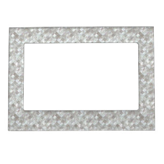 Mother of Pearl Style. Picture Frame Magnets