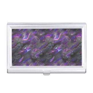 Mother Of Pearl Texture Purple Photo Pattern Business Card Holder