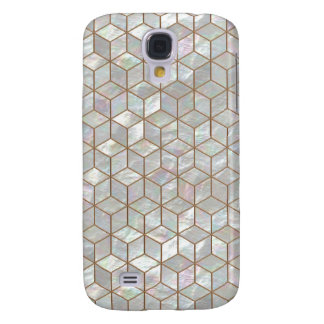 Mother Of Pearl Tiles Samsung Galaxy S4 Covers