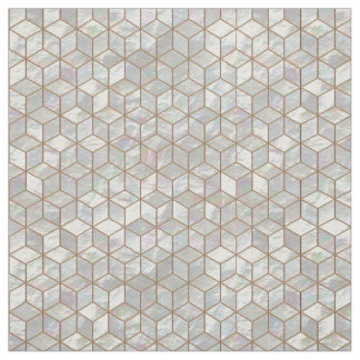 Mother Of Pearl Tiles Fabric