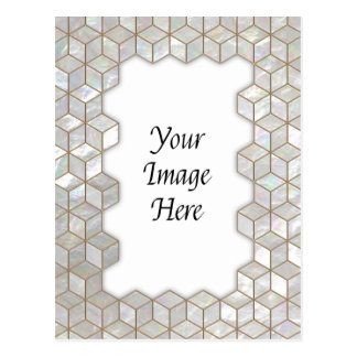 Mother Of Pearl Tiles Frame Postcard
