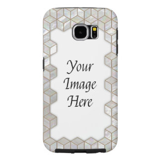 Mother Of Pearl Tiles Frame Samsung Galaxy S6 Cases
