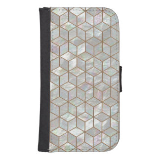 Mother Of Pearl Tiles Galaxy S4 Wallets