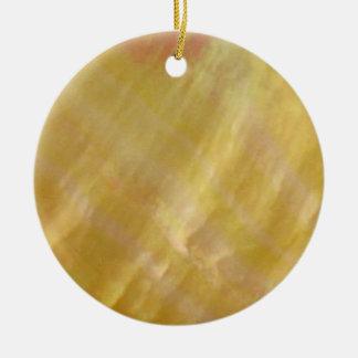 Mother of pearl tones gold ceramic ornament