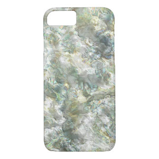 Mother Of Pearl White Abstract Swirl iPhone 7 Case