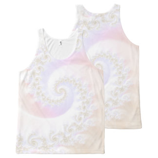 Mother of Pearls Luxurious Fractal Spiral All-Over-Print Tank Top
