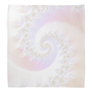 Mother of Pearls Luxurious Fractal Spiral Bandana