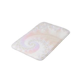 Mother of Pearls Luxurious Fractal Spiral Bath Mat