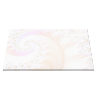Mother of Pearls Luxurious Fractal Spiral Canvas Print